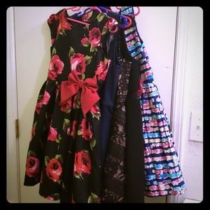 5 girl's party/holiday dresses. Sold as a group.